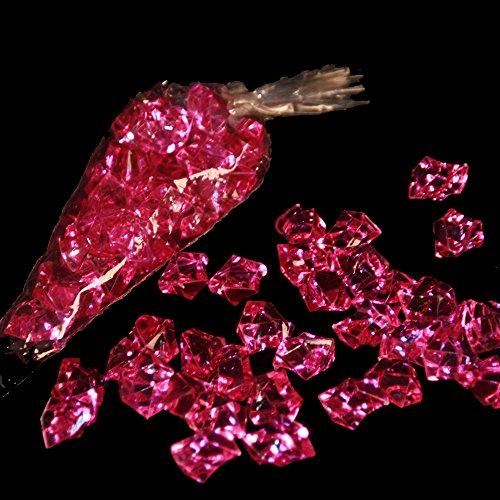 3 x Pierres/acrylsteine rose: env. 25 x 20 mm/pierre/32 pierres par sachet