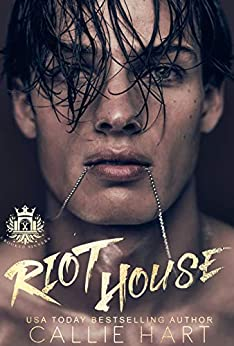 "alt=""RIOT HOUSE is a 137,000-word standalone book in the Crooked Sinners Series and does not end on a cliffhanger. Future books in the series will feature other characters. This book contains dark content that may be considered a trigger for some readers, and as such is recommended for readers 17+   They might be richer than gods, but they're morally bankrupt.  As far as the boys who run America's most exclusive international academy are concerned, I'm an unwelcome interloper, an inconvenience, and they're determined to make my life a living hell.  When Wren Jacobi sets eyes on Wolf Hall Academy's newest inductee, all he sees is an easy mark. A reserved little girl with a target painted on her back. He knows nothing of my troubled past, though. Nothing of my mother's suspicious death, or the horrific treatment I've had to endure at the hands of my psychotic father. And he has no idea of the lengths that I, unassuming little Elodie Stillwater, will go to in order to break the savage beast who dreams of breaking me first.  There's a wolf stalking the forests that surround my new school.  Little does he know…  There are far scarier predators lurking out there in the dark."""