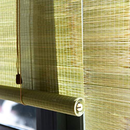 MIEMIE Cortina de bambú Persianas enrollables de Madera Persianas enrollables al Aire Libre para Cubierta Yard Gazebo Pérgola Patio Porche Carport Personalizable