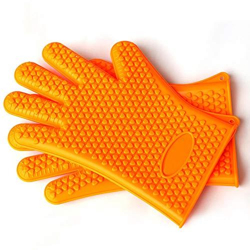 YGD siliconen handschoenen, barbecue- / verdikkings- / verwarmings- / oven- / hoge temperatuur/bescherming tegen verbranding/magnetron- / keukenhandschoenen, outdoor/industriële handschoenen