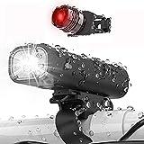HMEDA Luz Bicicleta Recargable USB,LED Impermeable Conjuntos de Faros Delanteros y Traseros para...