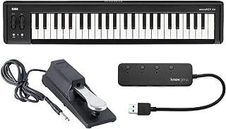 $229 » KORG microKEY Air 49-Key Bluetooth MIDI Controller Bundle with Sustain Pedal & Knox Gear 4-Port USB Hub (3 Items)