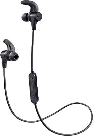 Auriculares Bluetooth Inalámbricos Deportivos, AUKEY Auricular Impermeable, 8 Horas Reproducción de Música, Micrófono Incorporado, para iPhone, Samsung, Huawei, Xiaomi ect