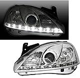 AD Tuning GmbH & Co. KG Faros Delanteros Set con LED Luz Diurna en Cromo