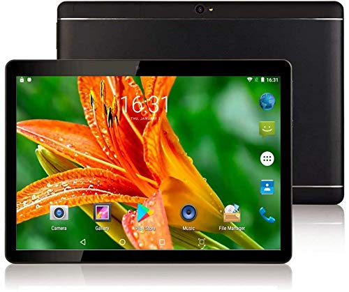 "tablet google 10 inch Google Android 8.1 Nougat System Tablet Unlocked Pad with Dual SIM Card Slot XINYANGCH 10.1"" IPS Screen 4GB RAM 64GB ROM 3G Phablet Built-in Bluetooth WiFi GPS Tablets (Black)"
