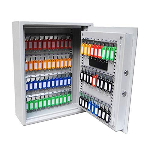 CuteLife Armarios de Llaves Office Steel Key Gabinete Key Safe Seguridad Caja de Seguridad Caja de Bloqueo de combinación Sostiene 71 Teclas para el Negocio de la Oficina en Casa