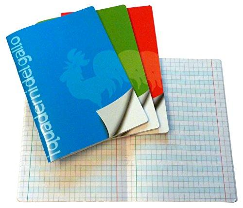 4 Quaderni Speciali per disgrafia e dislessia a quadretti da 1 cm.