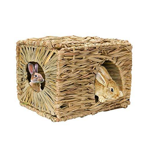 Winbang Grass House, Capanna di Paglia in Erba Naturale per Piccoli Animali Pieghevole