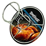Bayou Classic 0880-CS Stainless Steel Beercan Chicken Rack, Silver