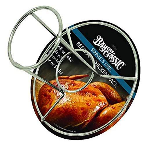 Bayou Classic 0880-pdq en Acier Inoxydable Beercan Chickcan Rack