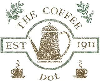 J BOUTIQUE STENCILS Small Size Template Coffee Pot Stencil for Crafting DIY Room Decor Wall Art Furniture