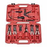 LARS360 9-tlg Schlauchklemmenzange Schlauchschelle Schlauchklemmen-Zange Spezial Zange Werkzeug