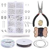 Kit de Hacer Bisutería, Jewelry Making Kit con alicates y Pinzas para la fabricación de Joyas Reparación de artesanías de Bricolaje