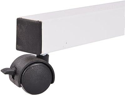DlandHome Bureau Assis Debout Table de Lit Roulante (Roulette Verrouillable) Table Hauteur Réglable 67-115cm Bureau Informatique Multifonctionnel avec 3 Tablettes pour Ordinateur Portable, Érable
