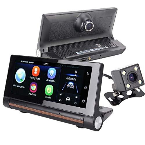 LILICEN Función Vista Posterior T1 múltiples Funciones Inteligente del Espejo de Coche del vídeo del expediente de la Ayuda Cámara TF/FM/Bluetooth Manos Libres