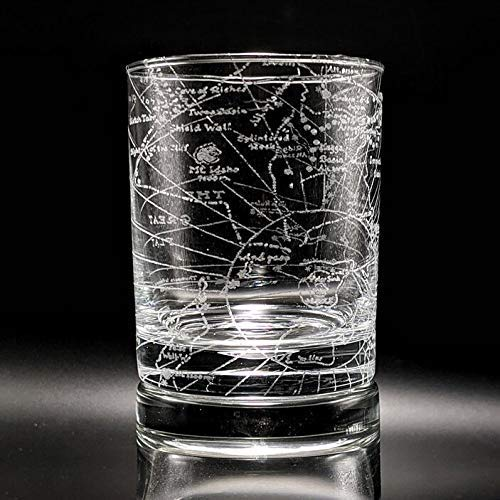 MAP of ARRAKIS Engraved Rocks Glass | Inspired by DUNE