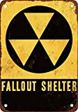 Fallout Shelter Vintage Look Reproduction Metal Tin Sign 12X18 Inches