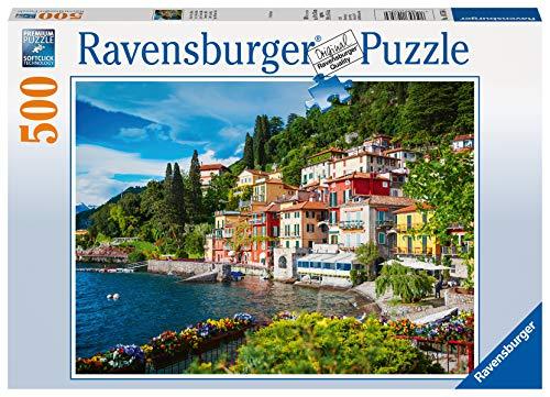 Ravensburger Puzzle 14756 - Comer See, Italien - 500 Teile Puzzle für Erwachsene und Kinder ab 10 Jahren, Landschaftspuzzle mit Italien-Motiv
