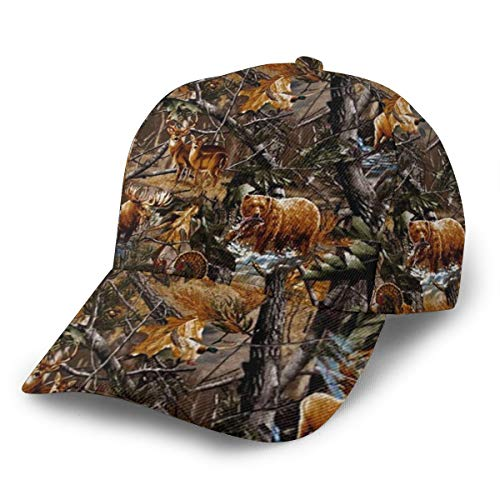 Baseball Cap Dad Caps Camo Hunting Deer Bear Moose Turkey Duck Print Classic Fashion Casual Adjustable Sport for Men Women Hats