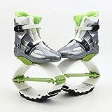lillacty Kangoo Jump Boots para Adultos, Zapatos De Salto, Zapatos De Rebote, Saltos De Fitness Unisex, Zapatos De Baile, Ejercicio, Uso En Interiores Y Exteriores,GreenB-L
