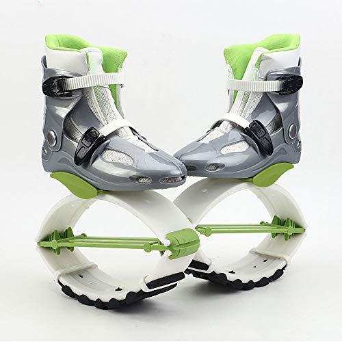 VCJNMQ Kangoo Jump Boots para Adultos, Zapatos De Salto, Zapatos De Rebote, Saltos De Fitness Unisex, Zapatos De Baile, Ejercicio, Uso En Interiores Y Exteriores,Green-XXL(42-44)