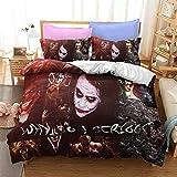 Kids Bedding Set Queen Size Joker Bedding Duvet Cover Clown Bedspread Cover for Boys Girls Bedclothes