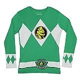 Power Rangers The Long Sleeve Ranger Costume Green T-Shirt (Adult Medium)