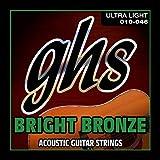 GHS BB10U 10 - 46 Ultra Light Bright Bronze Acoustic Guitar String Set