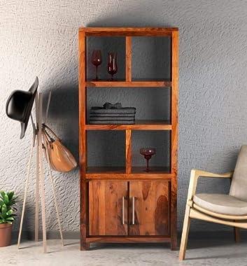 Shilpi Handmade Capital Look Double Door & Shelf Attached Wooden Almirah for Living Room