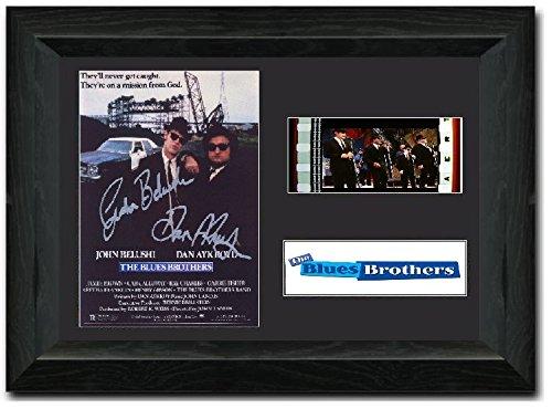 The Blues Brothers 35mm Film Zelle Atemberaubende Display Guss Signiert John Belushi Dan Aykroyd