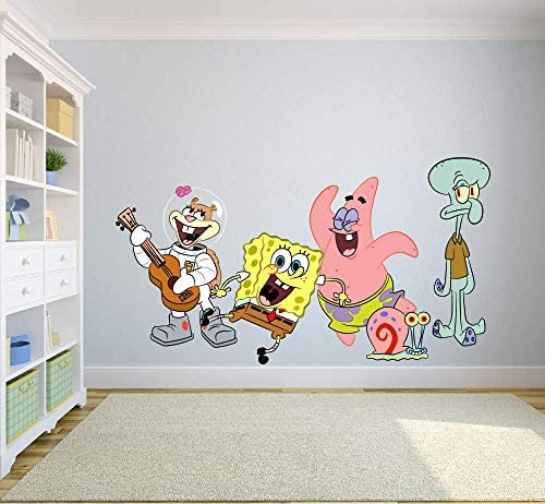 Spongebob Squarepants Complete Cast Happy Wall Graphic Decal Sticker Sticker Mural Baby Kids product image