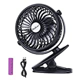 Best Battery Operated Mini Fans - SkyGenius Battery Operated Clip on Stroller Fan, Portable Review