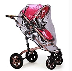 Contains two small mesh windows providing air for child Seals up with velcro at the sides Approx. 4'x 4' ft. when fully spread out or placed over stroller WILL NOT FIT DOUBLE STROLLERS. YOU WILL NEED TO ORDER 2 Compatible with Urbini strollers: Rever...