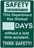Brady 45957 Prinzing Safety Record Sign for Department
