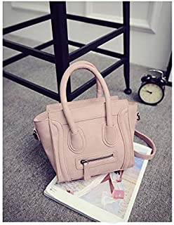 Adebie - Trapeze New Fashion Women Handbag Cross Body Bag Female PU Leather Casual Shoulder Bag Famous Brand Designer High Quality Ladies Pink []