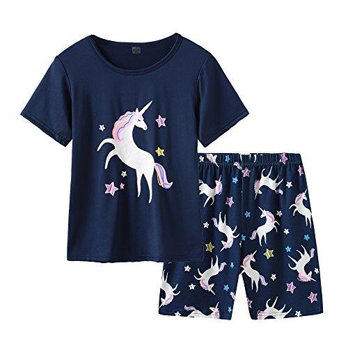 MyFav Big Girls' Summer Pajama Sets Cute Patterns Sleepwears Cartoon Children...