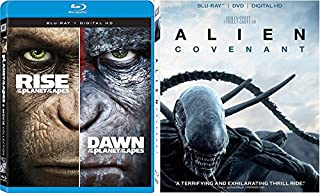 Apes & Alien Covenant Triple Feature Sci-Fi + Rise & Dawn of the Planet of the Apes Movie Set