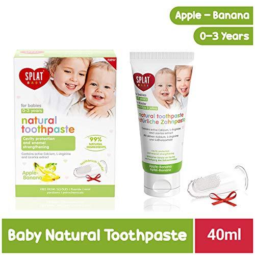 Splat Baby Pasta Dentrífica Natural + Escova de Massagem Sabor Apple/Banana 40ml