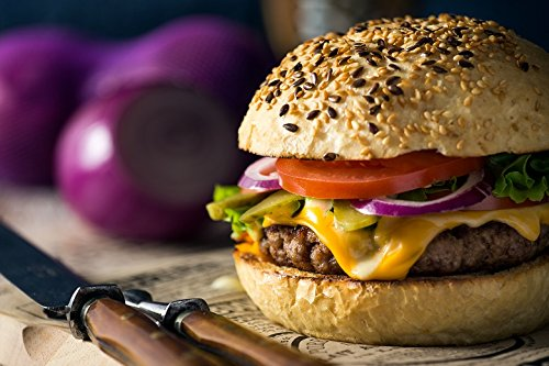 Gourmet Steak Burgers - 8 (8 oz.) USDA Choice Beef Steak Burgers Barbeque Grill Beef Burgers - Meat Lover's Classic Steakburgers Made from Midwestern Corn-Fed Beef for Grilling & Smoking