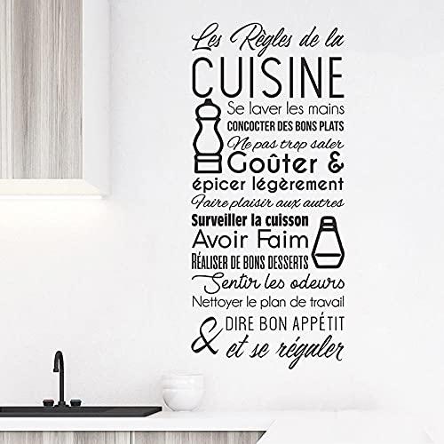 BBZZL Etiqueta engomada Francesa Impermeable de la Cocina de la Etiqueta de la Etiqueta engomada de la Regla de la Cocina del Vinilo M 31x70cm