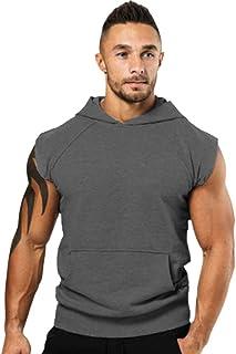 wodceeke Mens Casual Lightweight Sleeveless Hoodies Vest Tank Hoodies Summer Tank Tops
