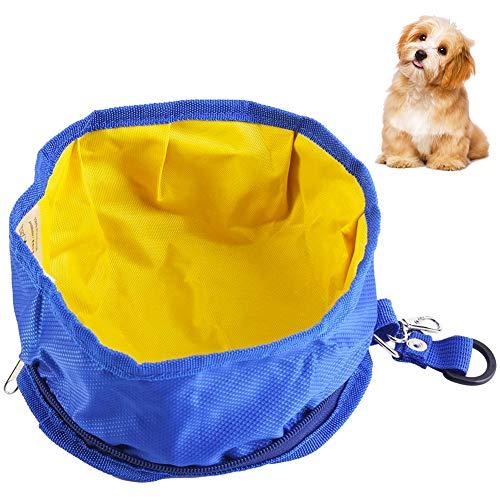 BETOY Ciotole da Viaggio per Cani,Portatile Impermeabile Stoffa Oxford Ciotola per Animali,Pieghevole Cane Ciotola da Viaggio per Cibo e Acqua