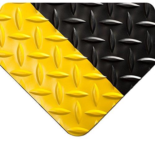 Wearwell 385.316x2x24BYL Diamond-Plate Runner Mat, 24' Length x 2' Width x 3/16