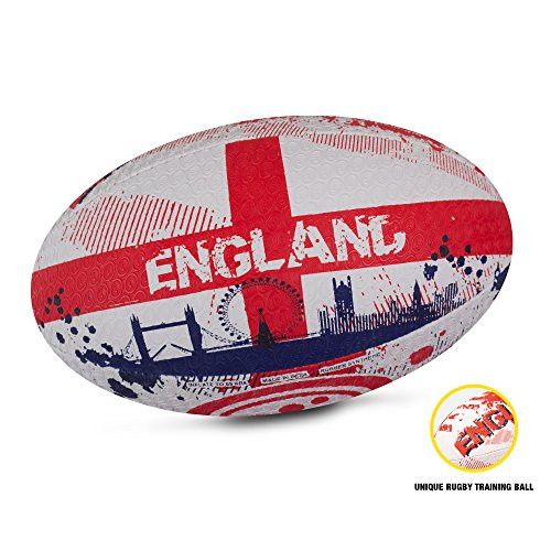 OPTIMUM Men's Nations Rugby Ball, Size 4, Mehrfarbig - England, 4