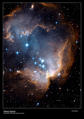 Hubble Space Telescope Poster - N90 Region - New Stars Shed Light on the Past - Size 59 x 42 Centimetres (A2) Laminated[DS4]