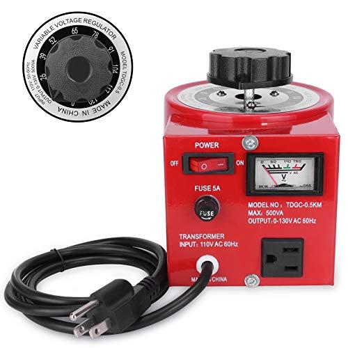 Beleeb Voltage Transformer 5 Amp Auto AC Variable Voltage Regulator ,500VAC Max,120VAC Input, 0-120V/130VAC Output