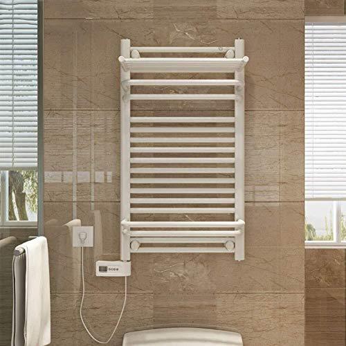 Zlinin Calentada Toalla Toalla calentador eléctrico, casa con la parte superior del marco de acero inoxidable que permite ahorrar espacio montado en la pared de toallas climatizada secado Panel de Bañ