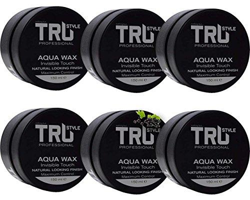 6x Tru Professional Aqua Styling Haarwachs Grey Citrus Duft, (6x 150ml)