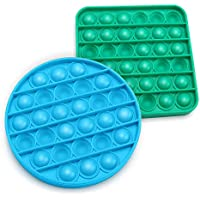 2-Pack Aothing Bubble Silicone Stress Reliever Fidget Sensory Toy