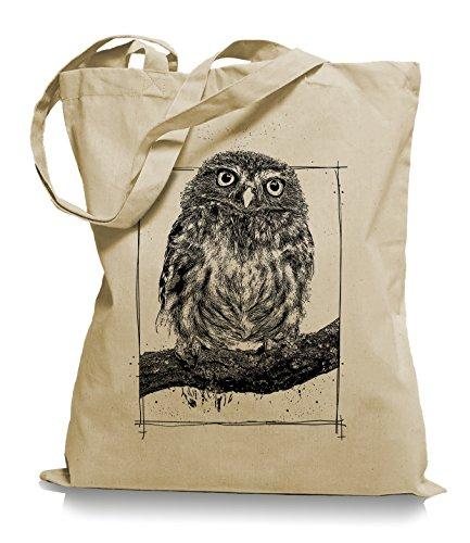 Big Owl Stoffbeutel |Eulen Eule Tragetasche Kult-sand